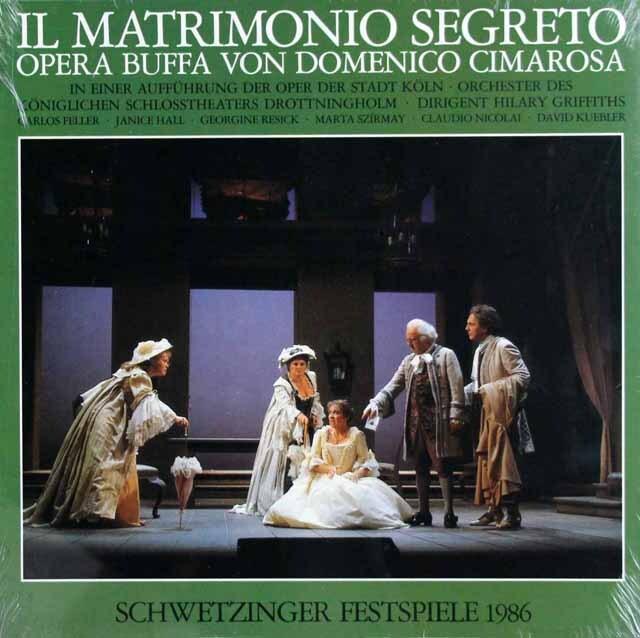 【未開封】 グリフィスのチマローザ/歌劇「秘密の結婚」全曲 シュヴェツィンゲン音楽祭1986 3322 LP レコード