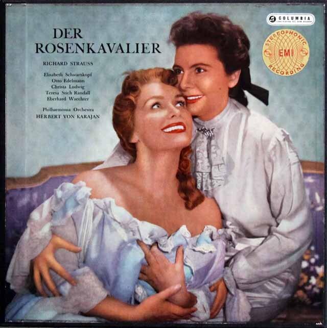 【オリジナル盤】 カラヤンのR.シュトラウス/「ばらの騎士」全曲 英Columbia 3322 LP レコード