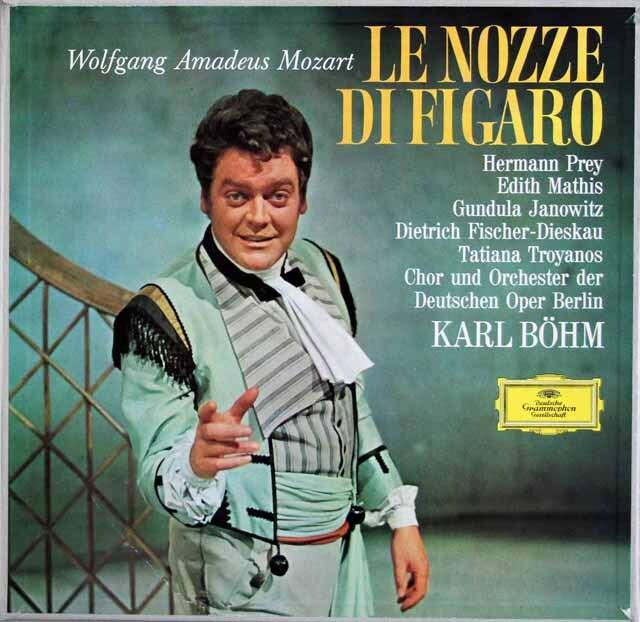 ベームのモーツァルト/「フィガロの結婚」 独DGG 3322 LP レコード
