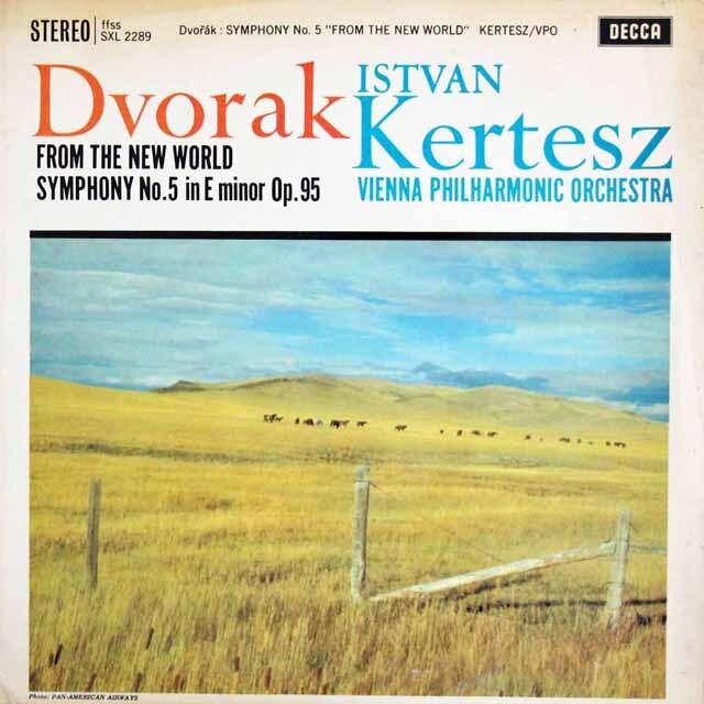 【オリジナル盤】 ケルテスのドヴォルザーク/交響曲第9(5)番「新世界より」 英DECCA 3323 LP レコード