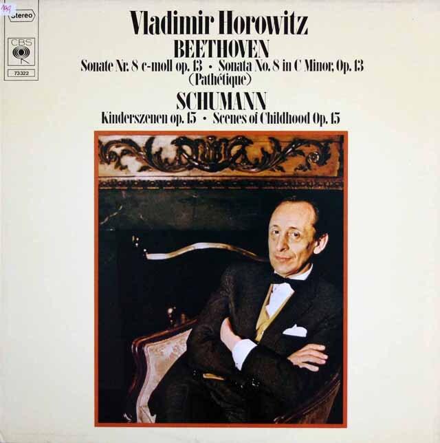 ホロヴィッツのベートーヴェン/「悲愴」ソナタほか 独CBS 3323 LP レコード