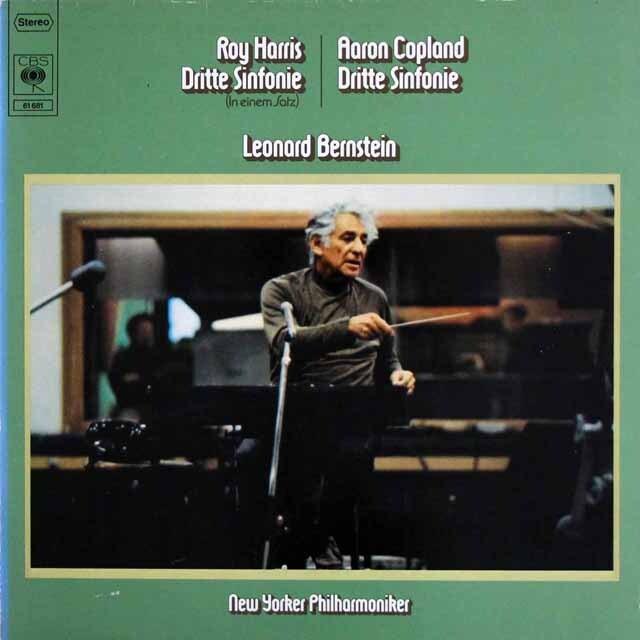 バーンスタインのハリス/交響曲第3番ほか 独CBS 3323 LP レコード