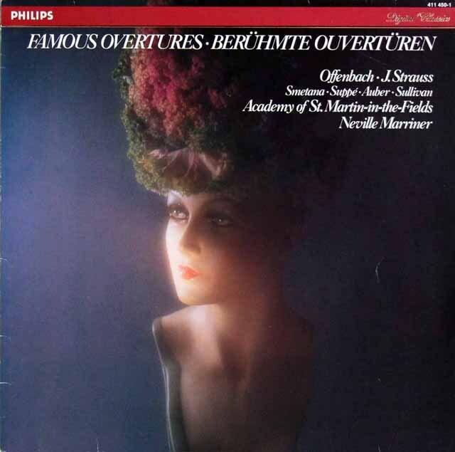 マリナーのJ.シュトラウス/「こうもり」序曲ほか 蘭PHILIPS 3323 LP レコード