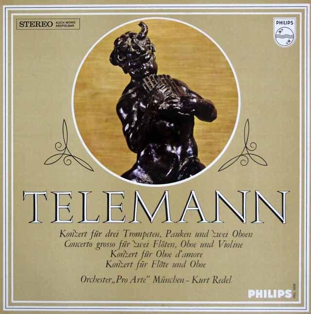レーデルのテレマン/協奏曲集 蘭PHILIPS 3323 LP レコード