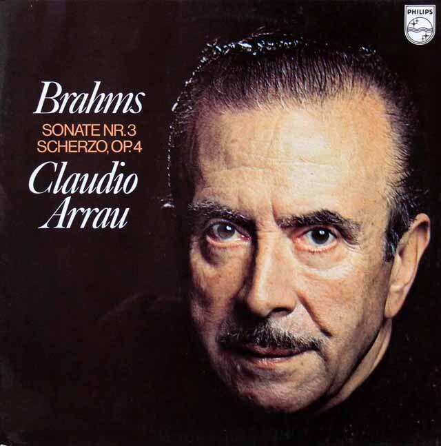 アラウのブラームス/ピアノソナタ第3番ほか 蘭PHILIPS 3323 LP レコード