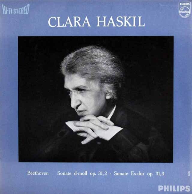 ハスキルのベートーヴェン/ピアノソナタ第17番「テンペスト」&第18番 蘭PHILIPS 3323 LP レコード