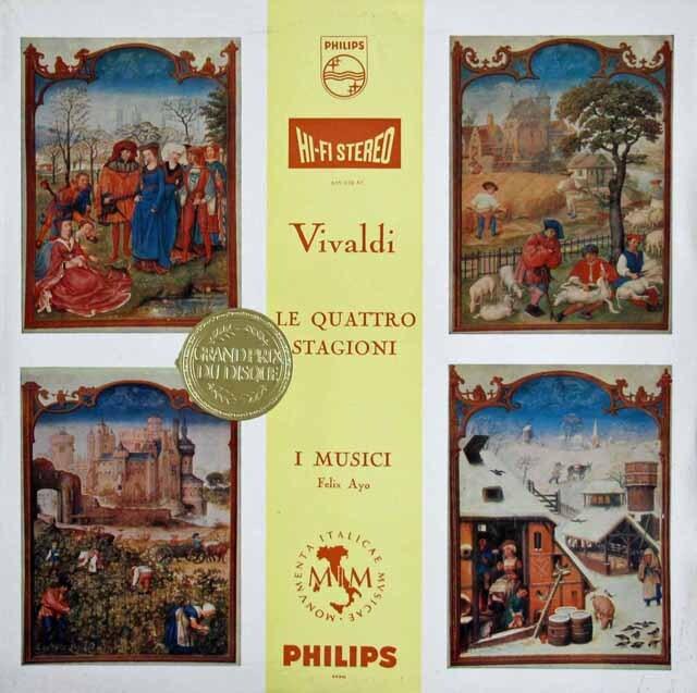 アーヨ&イ・ムジチ合奏団のヴィヴァルディ/「四季」 蘭PHILIPS 3323 LP レコード