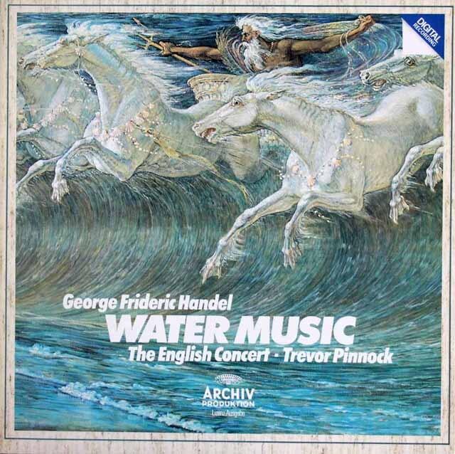 ピノックのヘンデル/「水上の音楽」全曲 独ETERNA 3323 LP レコード