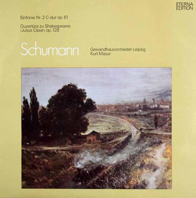 マズアのシューマン/交響曲第2番ほか 独ETERNA 3323 LP レコード
