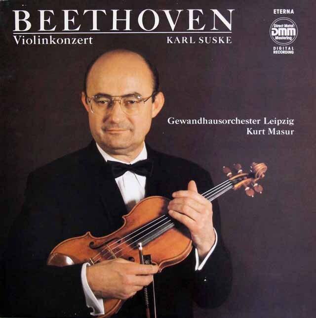 ズスケ&マズアのベートーヴェン/ヴァイオリン協奏曲 独ETERNA 3323 LP レコード