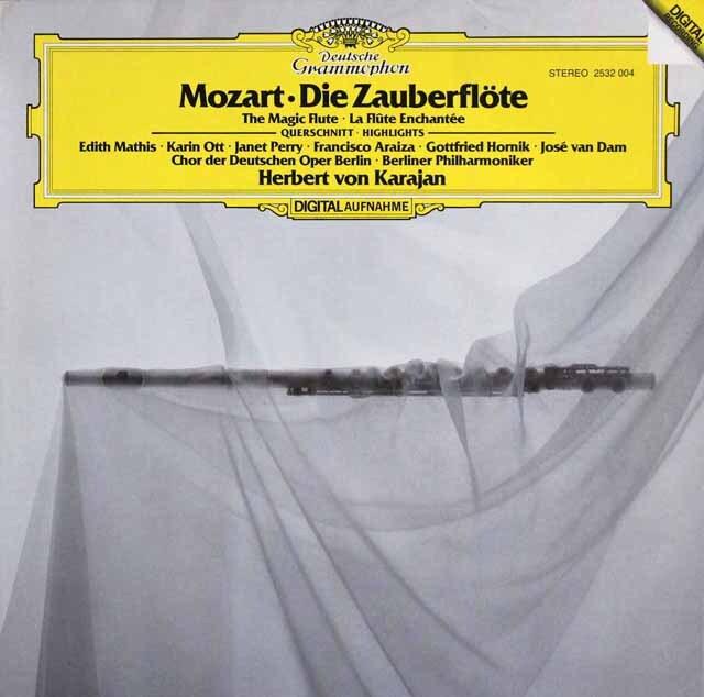 カラヤンのモーツァルト/「魔笛」抜粋 独DGG 3323 LP レコード
