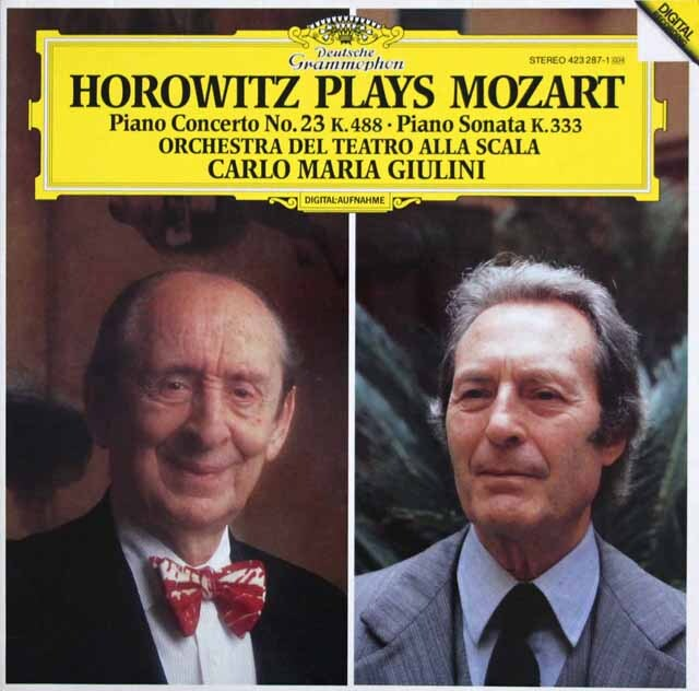 【内袋未開封】 ホロヴィッツ&ジュリーニのモーツァルト/ピアノ協奏曲第23番ほか 独DGG 3323 LP レコード