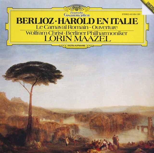 マゼールのベルリオーズ/「イタリアのハロルド」ほか 独DGG 3323 LP レコード