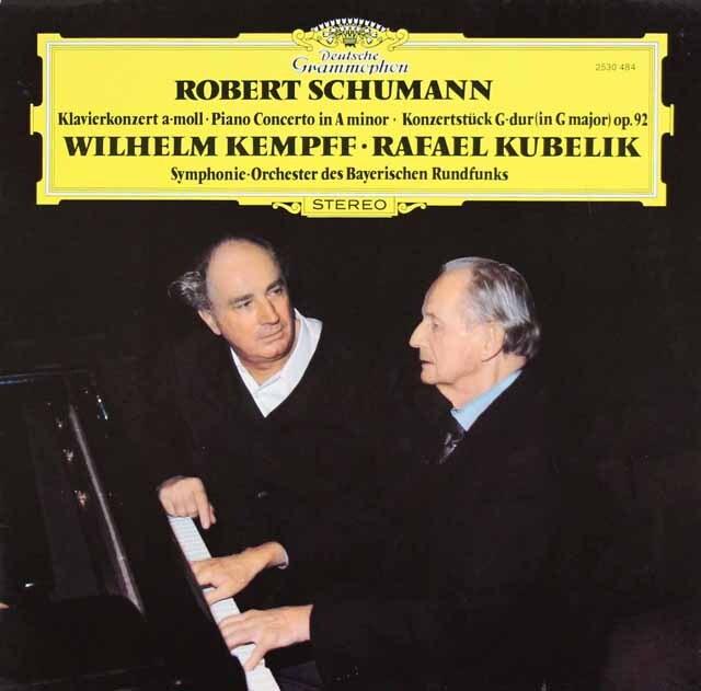 ケンプ&クーベリックのシューマン/ピアノ協奏曲ほか 独DGG 3323 LP レコード