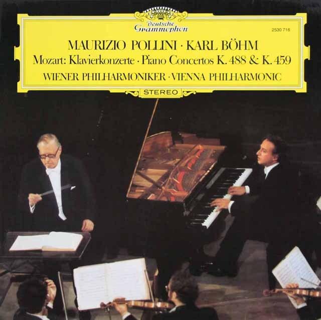 ポリーニ&ベームのモーツァルト/ピアノ協奏曲第19&23番 独DGG 3323 LP レコード