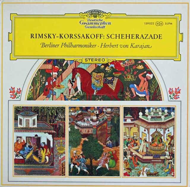 カラヤンのリムスキー=コルサコフ/「シェヘラザード」 独DGG 3323 LP レコード
