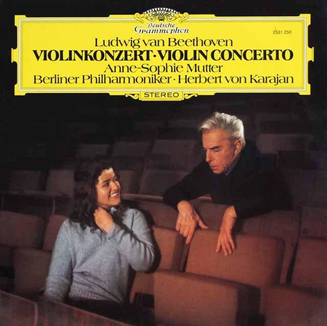 ムター&カラヤンのベートーヴェン/ヴァイオリン協奏曲 独DGG 3323 LP レコード