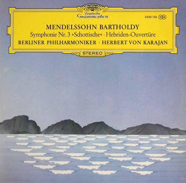 カラヤンのメンデルスゾーン/交響曲第3番「スコットランド」ほか 独DGG 3323 LP レコード