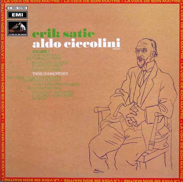 チッコリーニのサティ/ピアノ曲集(第1集) 仏EMI 3323 LP レコード