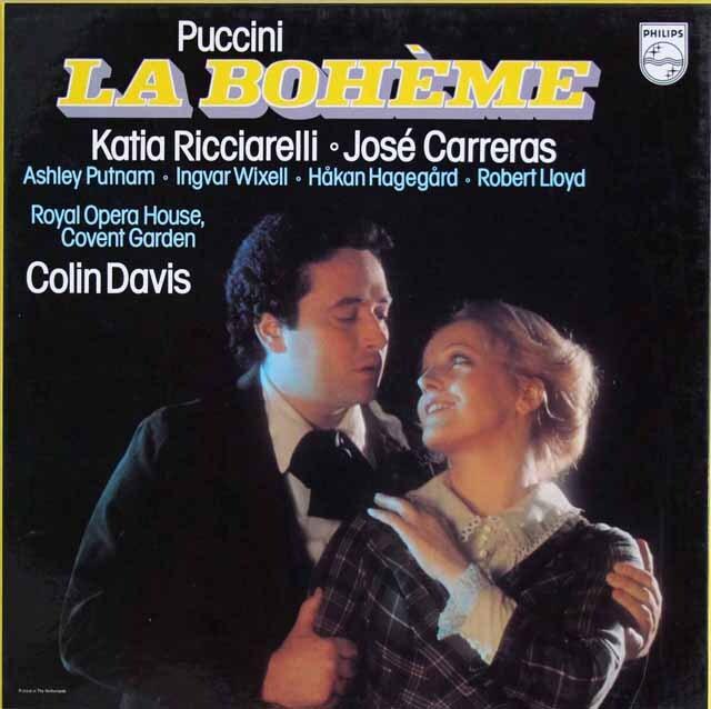 デイヴィスのプッチーニ/「ラ・ボエーム」全曲 蘭PHILIPS 3323 LP レコード