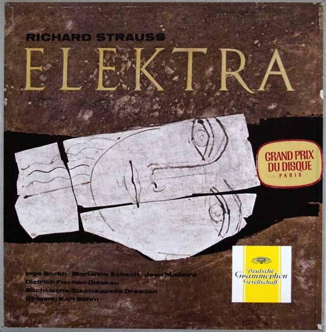 【独最初期盤】 ベームのR.シュトラウス/「エレクトラ」全曲 独DGG 3323 LP レコード
