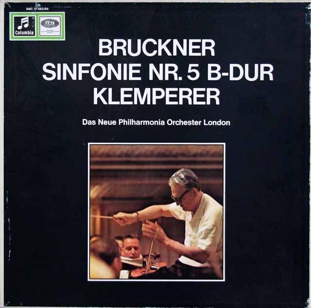 クレンペラーのブルックナー/交響曲第5番 独Columbia 3323 LP レコード