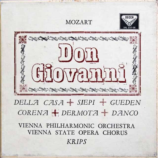 【オリジナル盤】 クリップスのモーツァルト/「ドン・ジョヴァンニ」全曲  英DECCA 3324 LP レコード