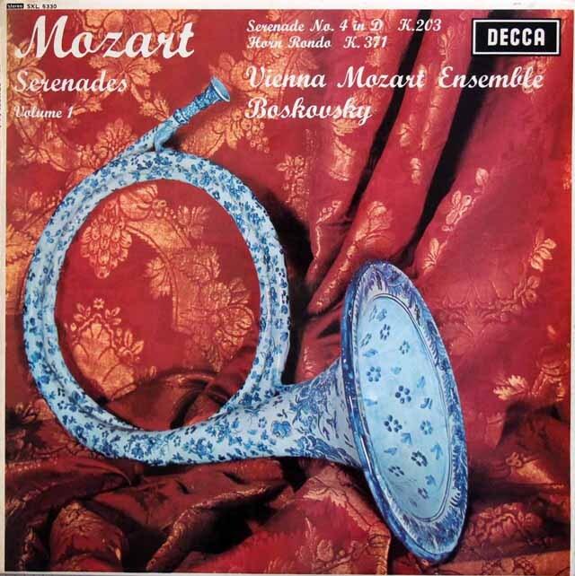 【オリジナル盤】 ボスコフスキーのモーツァルト/セレナーデ第4番ほか 英DECCA 3324 LP レコード