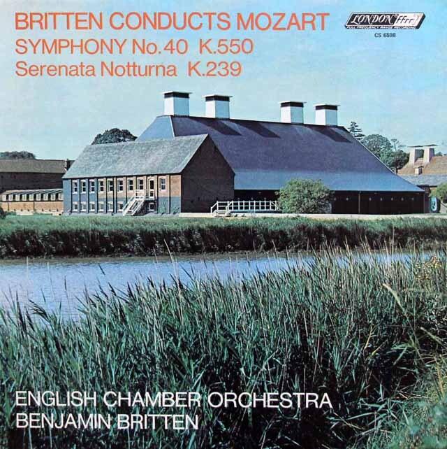 ブリテンのモーツァルト交響曲第40番ほか 英LONDON 3324 LP レコード