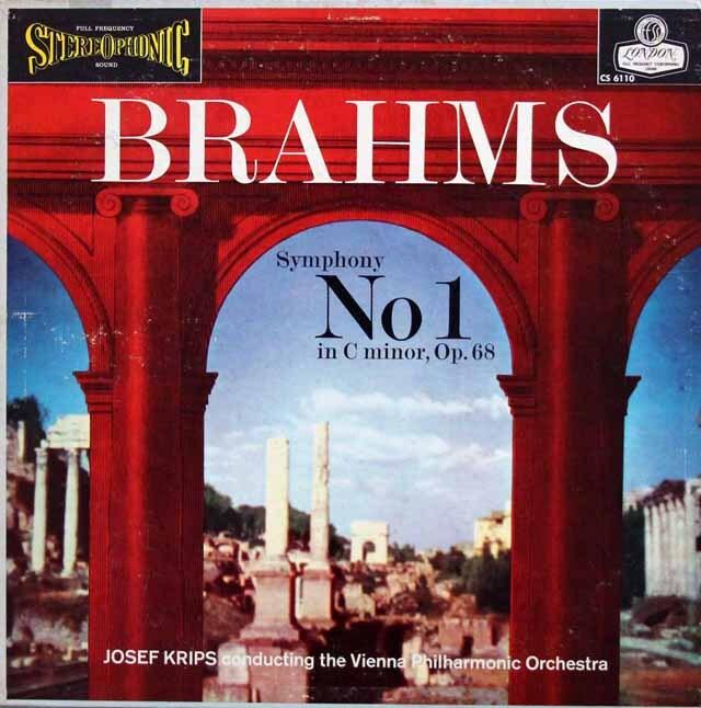 【SXLなし・ブルー・バックジャケット】 クリップスのブラームス/交響曲第1番 英LONDON 3324 LP レコード