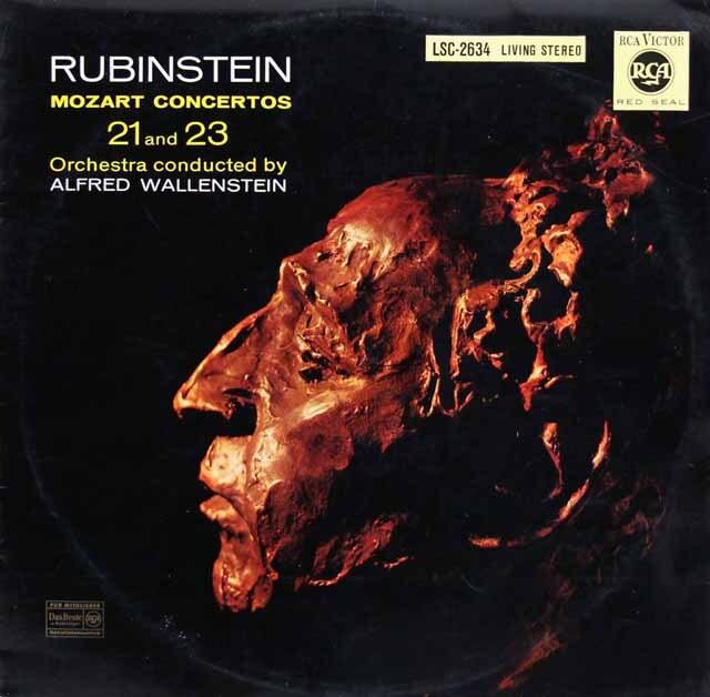 ルービンシュタイン&ウォーレンスタインのモーツァルト/ピアノ協奏曲第21&23番 独RCA 3324 LP レコード