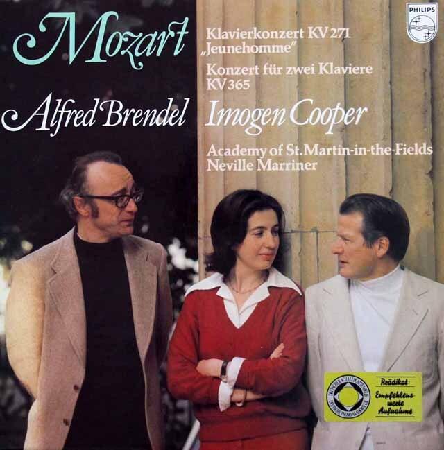 ブレンデルのモーツァルト/ピアノ協奏曲第9番「ジュノーム」ほか 蘭PHILIPS 3324 LP レコード