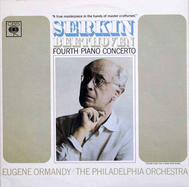 ゼルキン&オーマンディのベートーヴェン/ピアノ協奏曲第4番  独CBS 3324 LP レコード