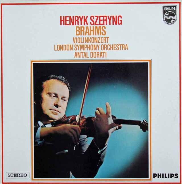 シェリング&ドラティのブラームス/ヴァイオリン協奏曲 蘭PHILIPS 3324 LP レコード