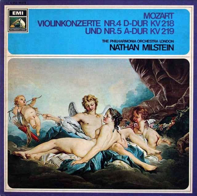 ミルシュタイン&ラインスドルフのモーツァルト/ヴァイオリン協奏曲第4、5番 独EMI 3324 LP レコード