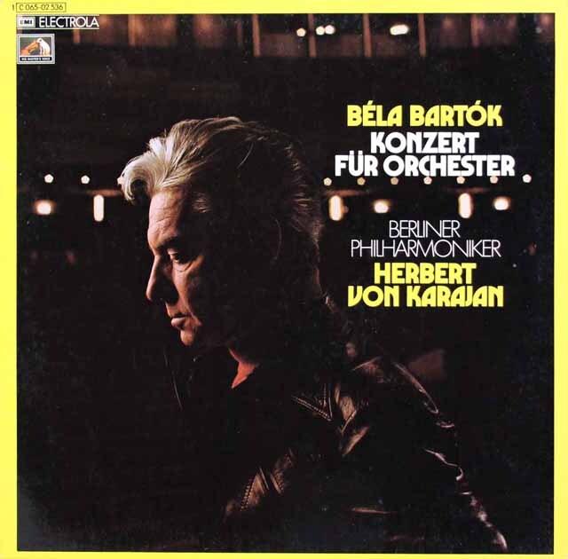 カラヤンのバルトーク/管弦楽のための協奏曲 独EMI 3324 LP レコード