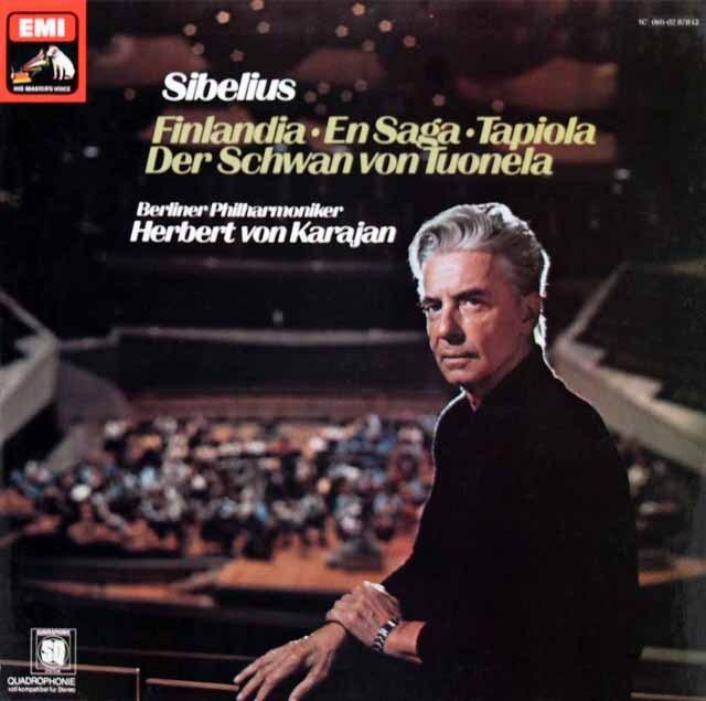 カラヤンのシベリウス/「フィンランディア」ほか管弦楽曲集 独EMI 3324 LP レコード
