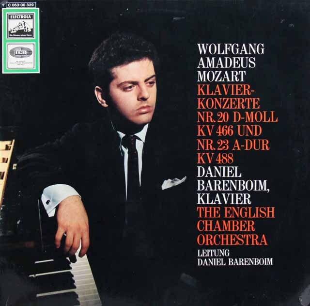 バレンボイムのモーツァルト/ピアノ協奏曲第20、23番 独EMI 3324 LP レコード