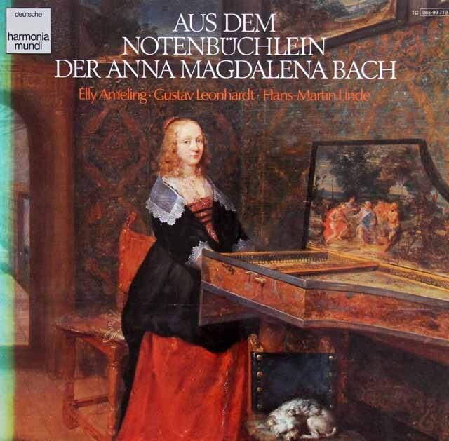 アメリングのバッハ「アンナ・マグダレーナ・バッハの音楽帖より」 独HM 3324 LP レコード