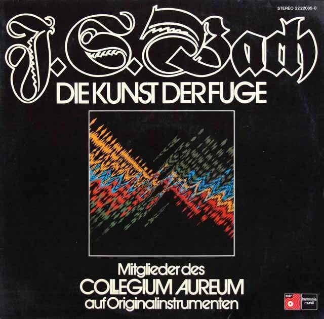 コレギウム・アウレウムのバッハ/フーガの技法 独HM 3324 LP レコード