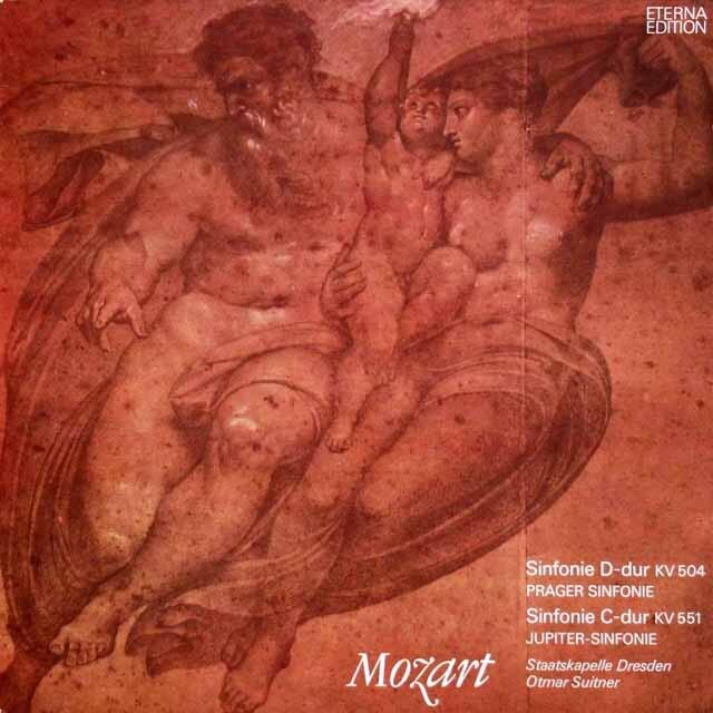 スウィトナーのモーツァルト/交響曲「プラハ」&「ジュピター」 独ETERNA 3324 LP レコード