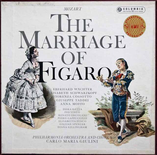 【オリジナル盤】 ジュリーニのモーツァルト/「フィガロの結婚」全曲 英Columbia 3324 LP レコード