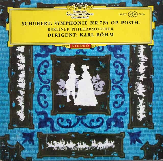 【赤ステレオ/独最初期盤】 ベームのシューベルト/交響曲第9番「ザ・グレイト」 独DGG 3324 LP レコード