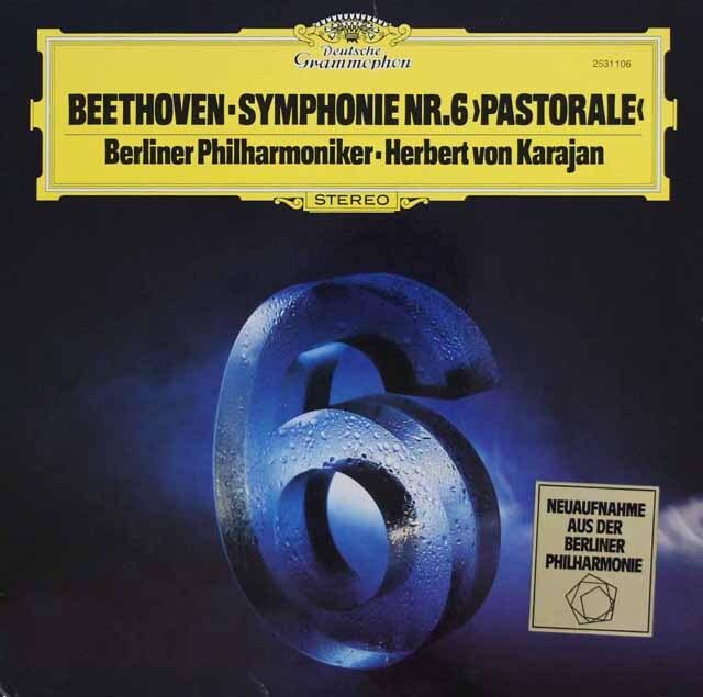 カラヤンのベートーヴェン/交響曲第6番「田園」 独DGG 3324 LP レコード