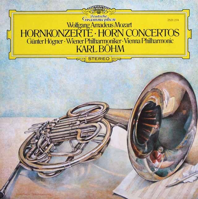 ヘーグナー&ベームのモーツァルト/ホルン協奏曲全曲 独DGG 3324 LP レコード