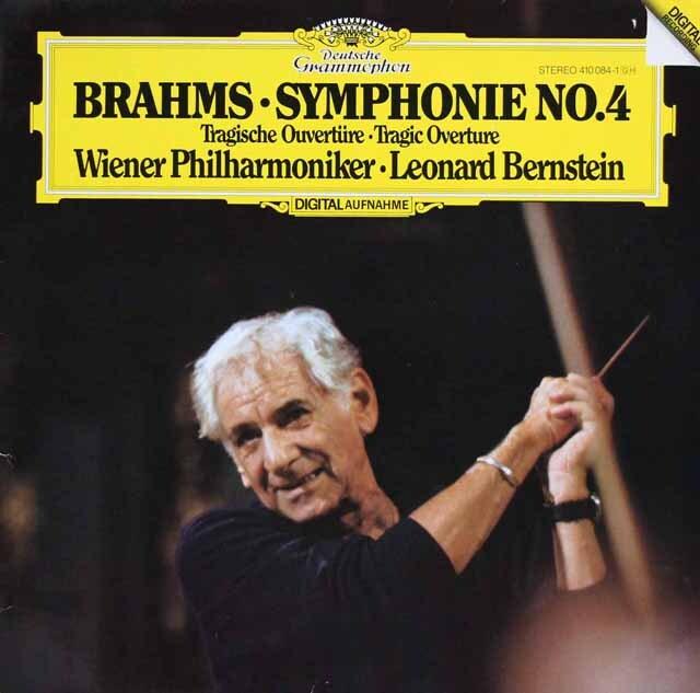 バーンスタインのブラームス/交響曲第4番&悲劇的序曲 独DGG 3324 LP レコード