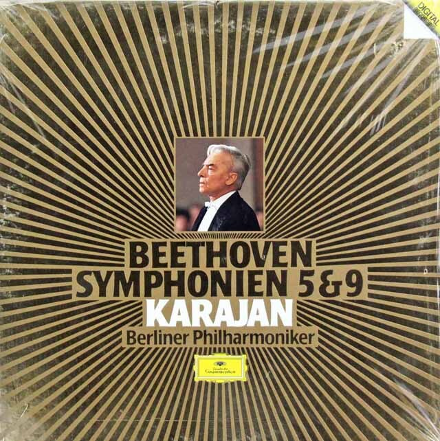 【未開封】 カラヤンのベートーヴェン/交響曲第5・9番  独DGG 3324 LP レコード