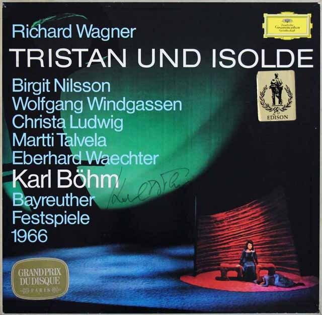 【直筆サイン入り】 ベームのワーグナー/楽劇「トリスタンとイゾルデ」全曲 独DGG 3324 LP レコード