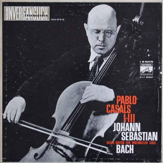 【独最初期盤】 カザルスのバッハ/無伴奏チェロ組曲全集 独ELECTROLA 3324 LP レコード