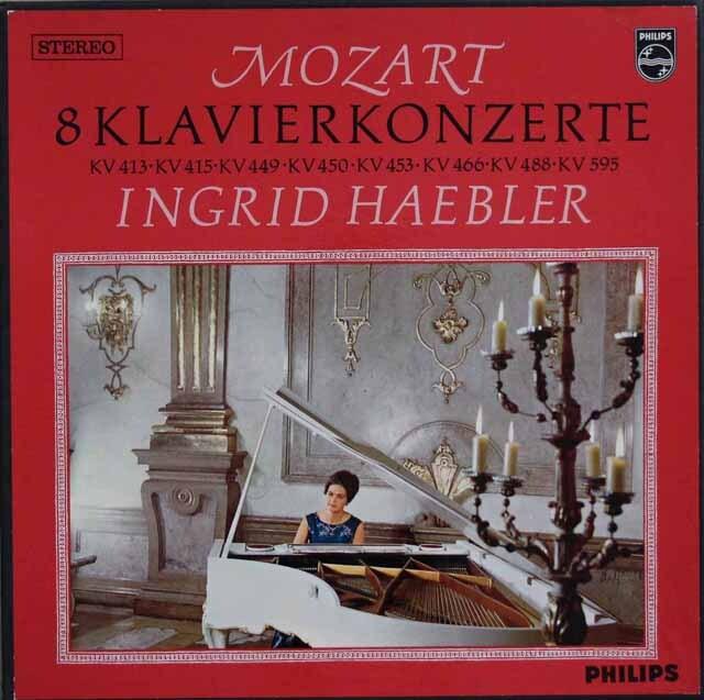 ヘブラーのモーツァルト/ピアノ協奏曲集(20番、27番ほか) 蘭PHILIPS 3324 LP レコード